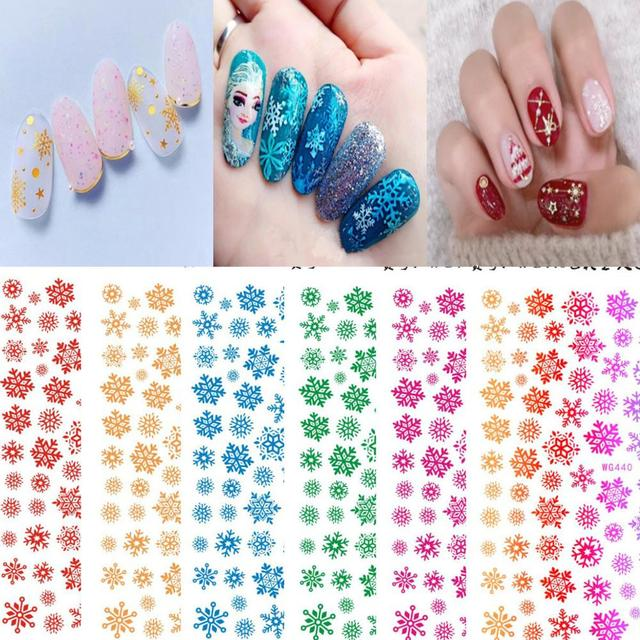 Hanyi Xmas Sneeuw 1 Vel HANYI 66 101 Prinses 3d Nail Art Stickers Decal Template Diy Nail Tool Decoraties