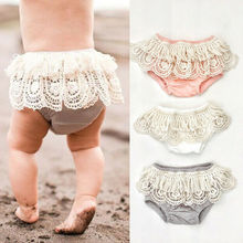 Goocheer New Toddler Infant Newborn Baby Girl Lace Floral Shorts Ruffle Pants Bloomers Diaper Nappy Casual Lovely Baby Shorts