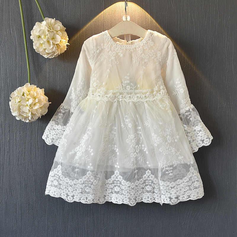2019 Vestido De Novia De Niñas Y Niños Blanco Primera Comunión Formal De Encaje Largo Princesa Vestido De Fiesta Para Niñas Disfraz De 3 14 Años