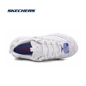 Image 3 - Skechers zapatos informales vulcanizados para mujer, zapatillas gruesas de plataforma, transpirables, 11979 WSL