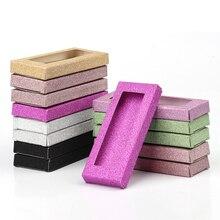Wholesale 50pcs Packing eyelash box blank eyelashes package shinny Multicolor paper box Eyelashes DIY flash packing boxes makeup