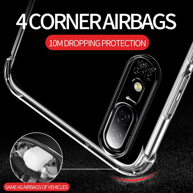 Мягкий силиконовый чехол с подушкой безопасности для huawei P20 P30 mate 20 Pro Lite Nova 3i 3e 4e 4 Etui прозрачный ТПУ противоударный бампер чехол