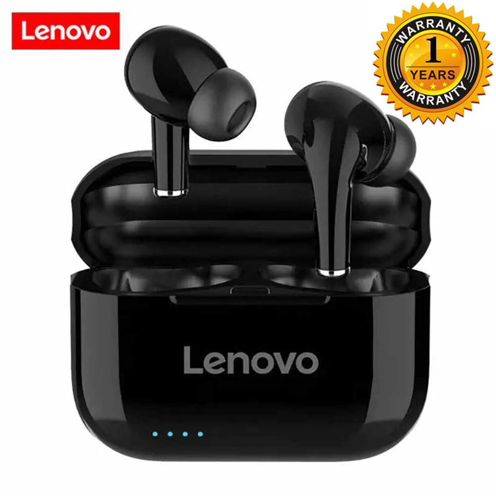 Беспроводные наушники lenovo lp1s, bluetooth наушники tws, HiFi музыка с микрофоном для смартфонов Android IOS