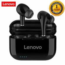 Lenovo lp1s fones de ouvido sem fio bluetooth tws música alta fidelidade com microfone para android ios smartphone