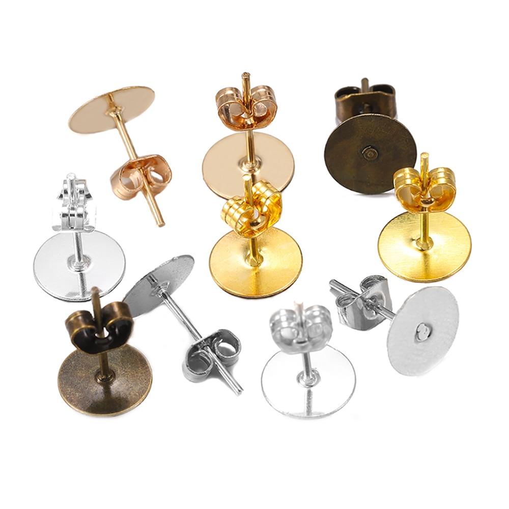 200Pcs Stainless Steel Butterfly Earrings Pins Stopper Backs DIY Accessory