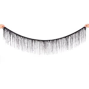 Image 2 - Karizma Deep Wave Bundles With Closure Non Remy Human Hair 3 Bundle Lace Closure Deals Peruvian Hair Weave Bundles With Closure