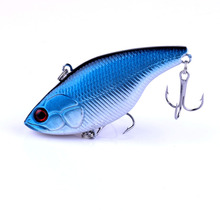1PCS Winter Fishing Lures 7cm 18.6g Hard Bait Sinking VIB with Lead Inside Lead Fish Fishing Tackle Wobbler Lure купить недорого в Москве