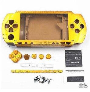 Image 4 - Darmowa wysyłka 6 kolorów dla PSP 1000 PSP1000 pełna obudowa obudowa na telefon zestawy przycisków zamiennych