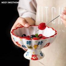 Cone-Holders Salad-Plate Dessert-Bowl Ice-Cream Ceramic Kitchen-Accessories WEETHOME