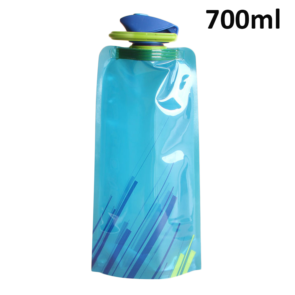 H378ed799d61f42e397fb29ebd671e5522 700ml Water Bottle Bags Environmental Protection Collapsible Portable Outdoor Foldable Sports Water Bottles For Hiking Camping