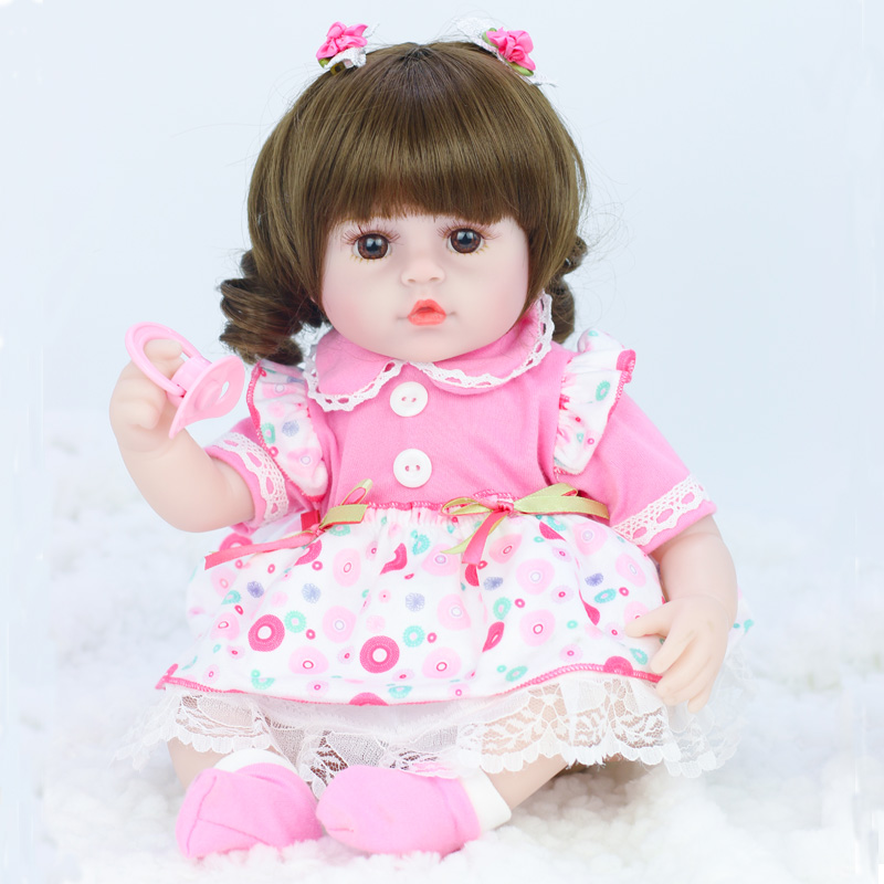 42cm baby bebe doll reborn Simulation Baby Dolls Soft Silicone Reborn Toddler Baby Toys For Girls