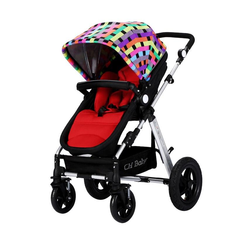 High Landscape Baby Cart Newborn  Two-way Can Sit  Lie Light Folding Lathe