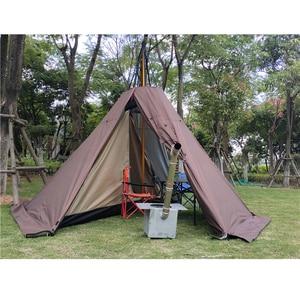 Image 2 - Namiot piramidowy z otworem kominowym/wieżowy namiot okienny namiot parkowy dwuwarstwowy namiot polowy zawiera pół namiotu wewnętrznego