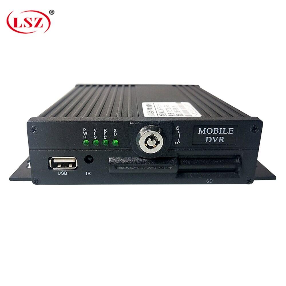 LSZ Mobile DVR 4 Channel sd Dvr Support AHD 720P 4CH MDVR PAL / NTSC|Surveillance Video Recorder| |  - title=