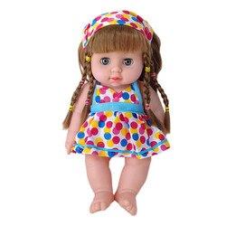 Детская имитация, Детская кукла, милые куклы для девочек, афроамериканские куклы, 12 дюймов, игрушки для девочек