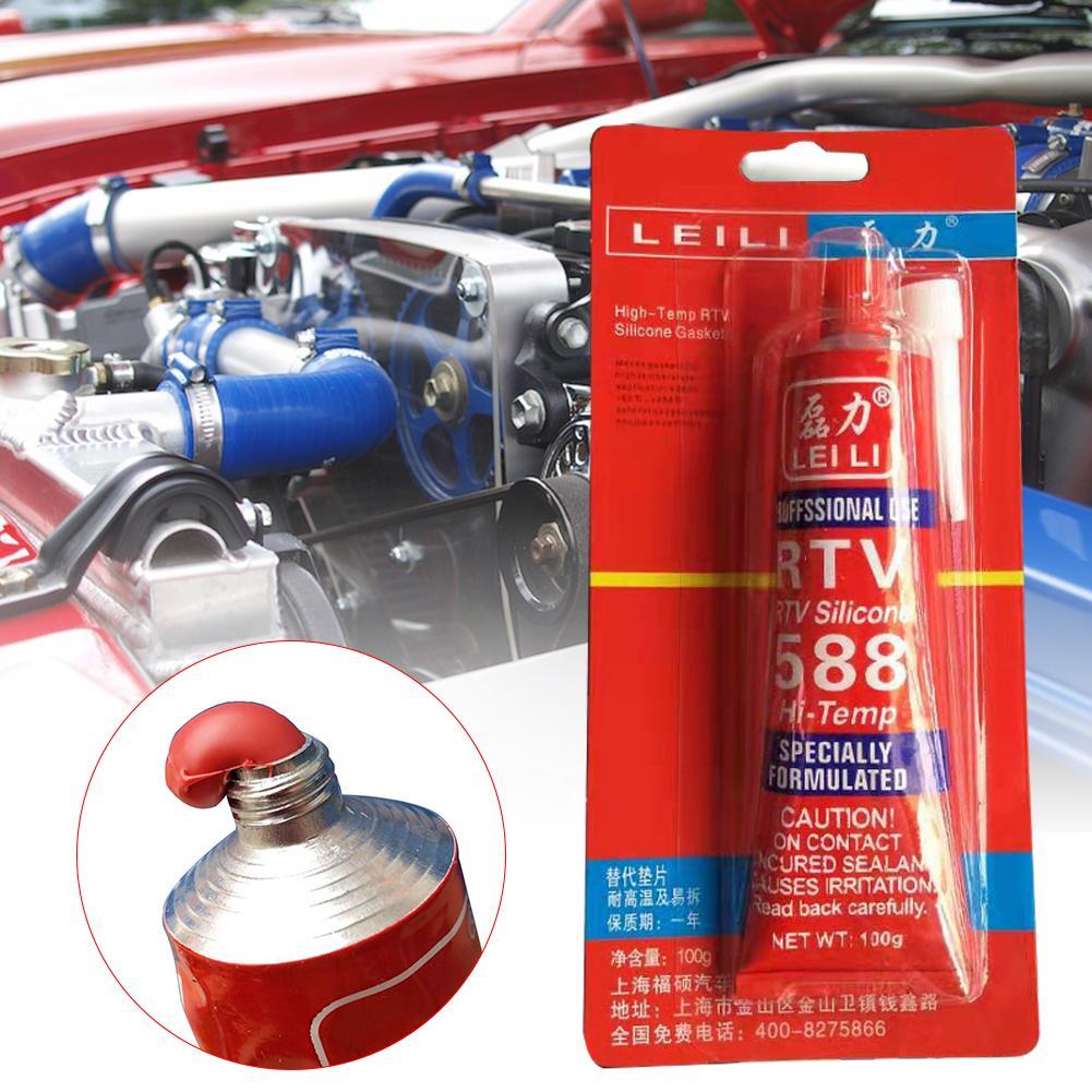 100g Strong Adhesive Glue High Temperature Sealant RTV Red Fastening Glue For Car Motor Gap Seal Repair Tools