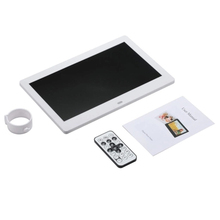 10 Inch LEDs Digital Photo Frame 1024 x 600 H-D Screen Desktop Album Display Image MP4 Video MP3 Audio Clock Calendar with Infra