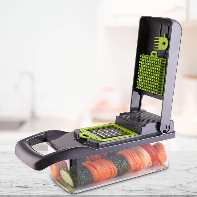 DEKO Vegetable Mandoline Cutter Fruit Slicer Multifunctional Potato Peeler Carrot Grater Kitchen Accessories with Drain Basket 5