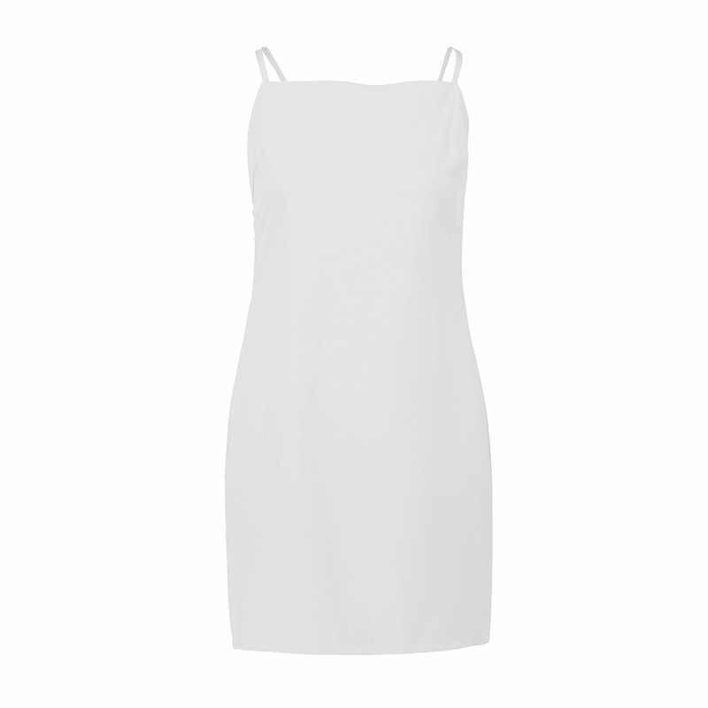 Sommer Strand Kleid Frauen Mini Spaghetti Strap Backless Sexy Kleid Plaid Schwarz Weiß Kleider Vestidos Verano 2019 LWL1807