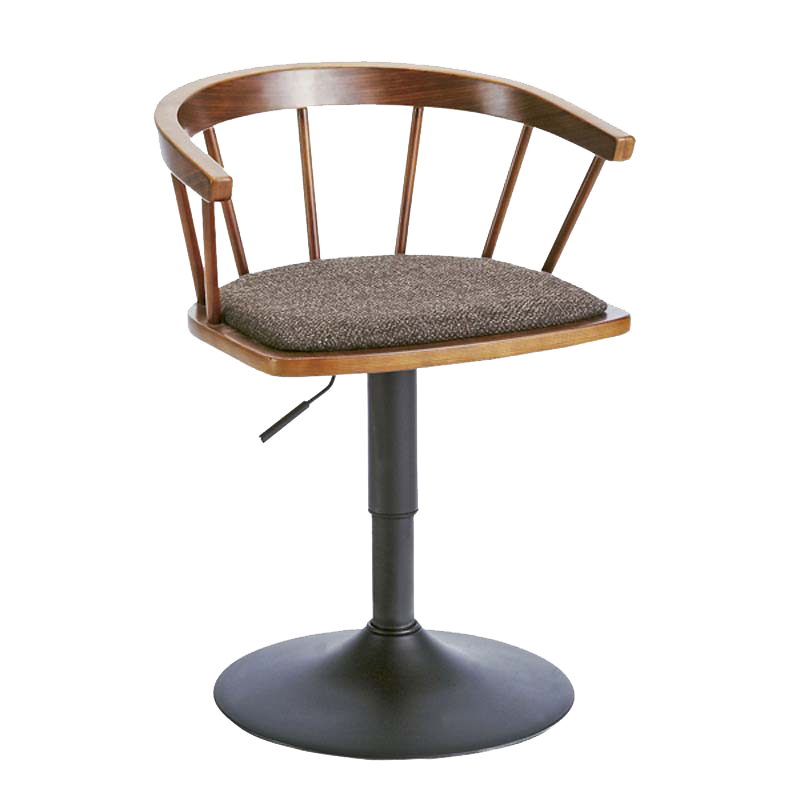 Solid Wood Bar Stool High  Rotary  Chair Fashion Simple Windsor  Home Lift    Backrest