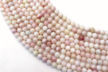Natural Pink Opal Round Loose Beads Strand 6/8/10MM For Jewelry DIY Making Necklace Bracelet