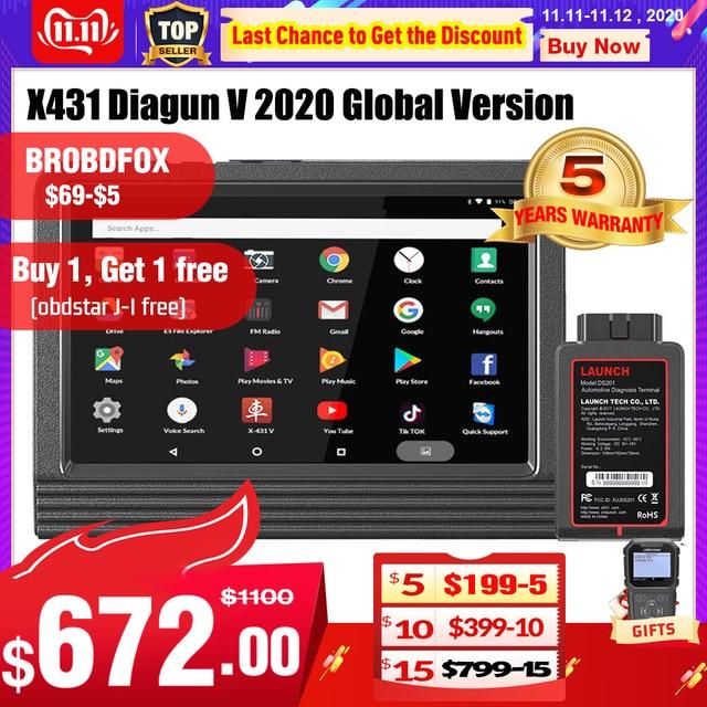 Launch X431 V Wifi/Bluetooth volledig systeem Diagnostisch hulpmiddel x 431 v Pro mini ECU codering OBD2 scanner update online 2 jaar gratis