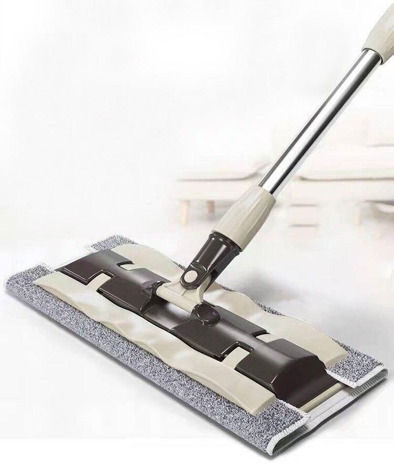 Cleaning mop Floor mop Home Tile 360 Degree Rotating mop Wood Floor Home mop Cloth Folding Telescopic Mop 4 Mop Cloth
