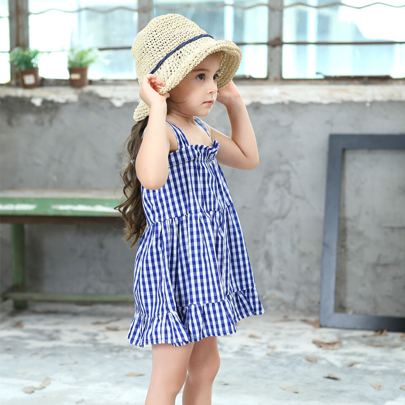 Lurryly Baby Girl Dress Toddler Kids Flare Short Sleeve Solid Princess Dress Clothes