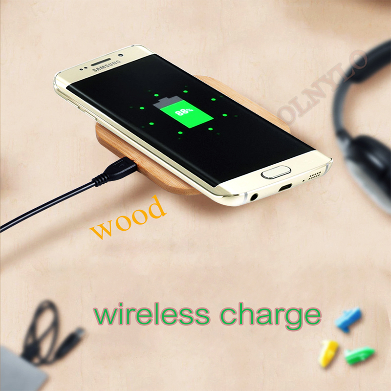 Portable 5W Qi Wireless Charger Slim Wood Pad For Apple iPhone 7 8 Plus Smart Phone Wireless Charging Pad For Samsung S7