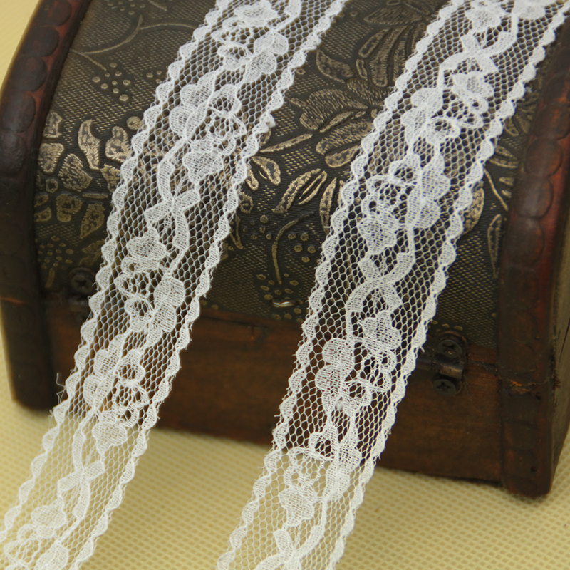 20 Meter x 20mm Green Leaf Ribbon Embroidered Lace Trims Crafts Decoration