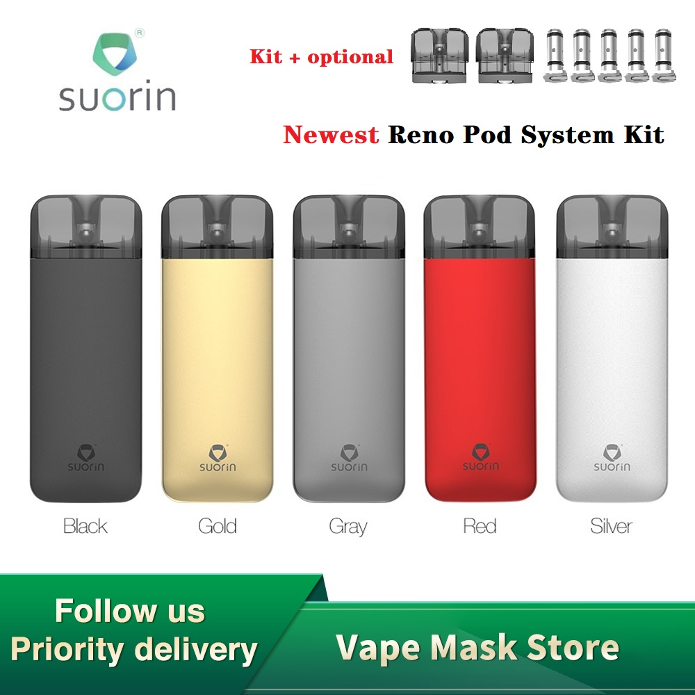 <font><b>Suorin</b></font> Reno <font><b>Pod</b></font> System Kit with 800mAh Battery & 3ml <font><b>Pod</b></font> Cartridge Aluminum Alloy E-cig Vape Kit VS Vinci X / <font><b>Suorin</b></font> <font><b>Air</b></font> <font><b>Plus</b></font> image