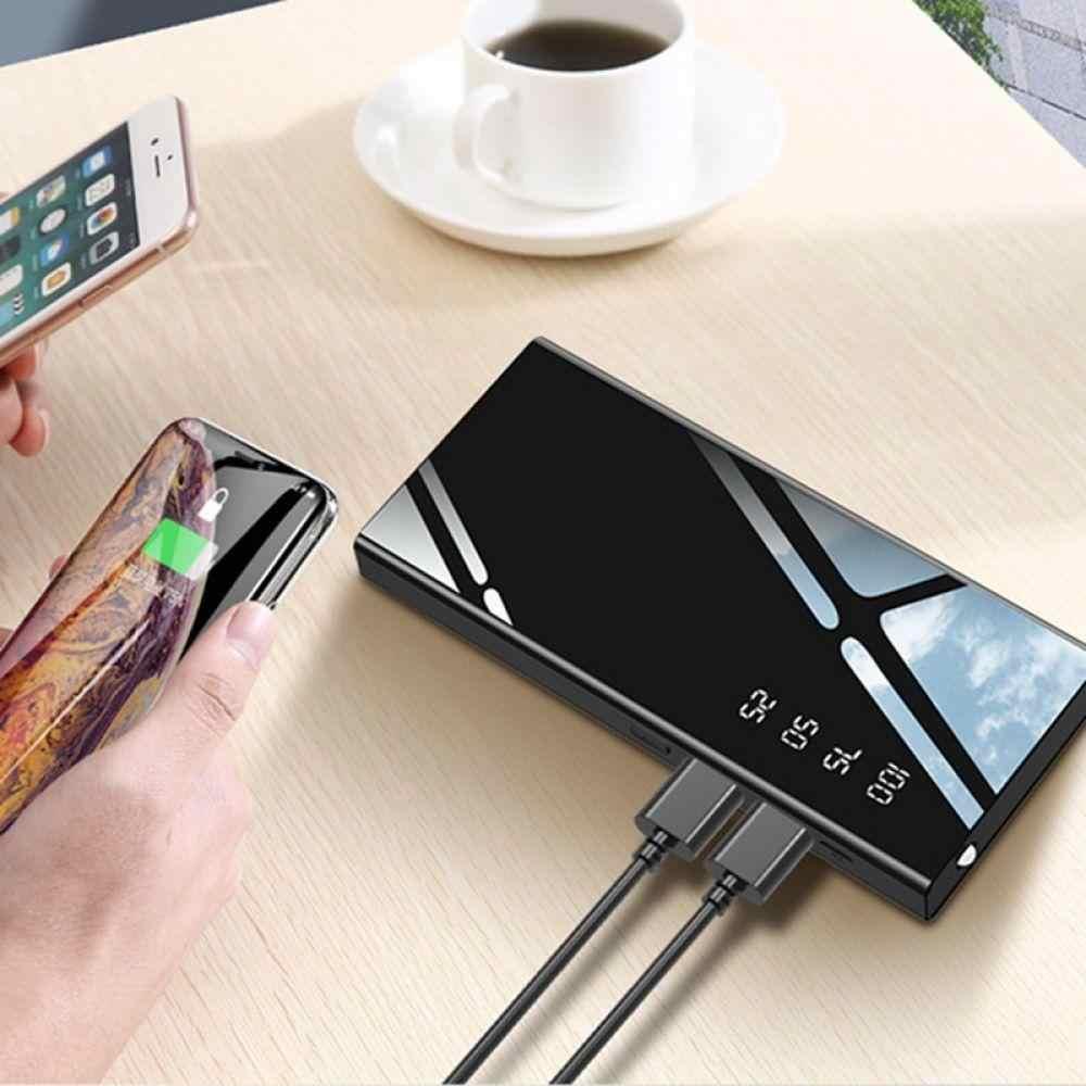Mi rmirror قوة البنك 30000mah بطارية خارجية حزمة LCD المحمولة الهاتف المحمول شاحن باوربانك ل Xiao mi mi آيفون X نوت 8