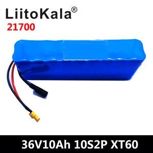 LiitoKala, batería de 36V, 10Ah, 21700, 5000mah, 10S2P, batería de alta potencia de 500W, bicicleta eléctrica BMS XT60