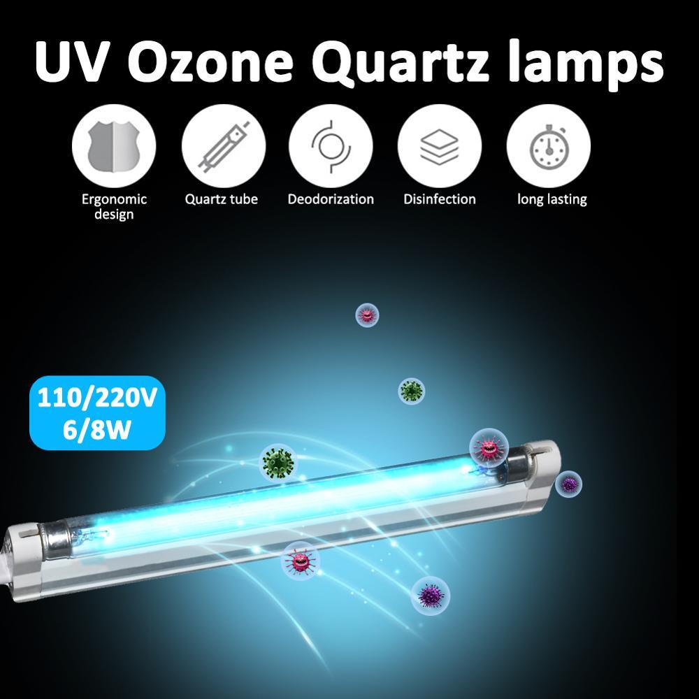 Ultraviolet Lamp Germicidal Light T5 Tube 6W 8W  Fixture UVC Disinfection Sterilizer Kill Dust Mite For Hospital Bedroom 110v 22