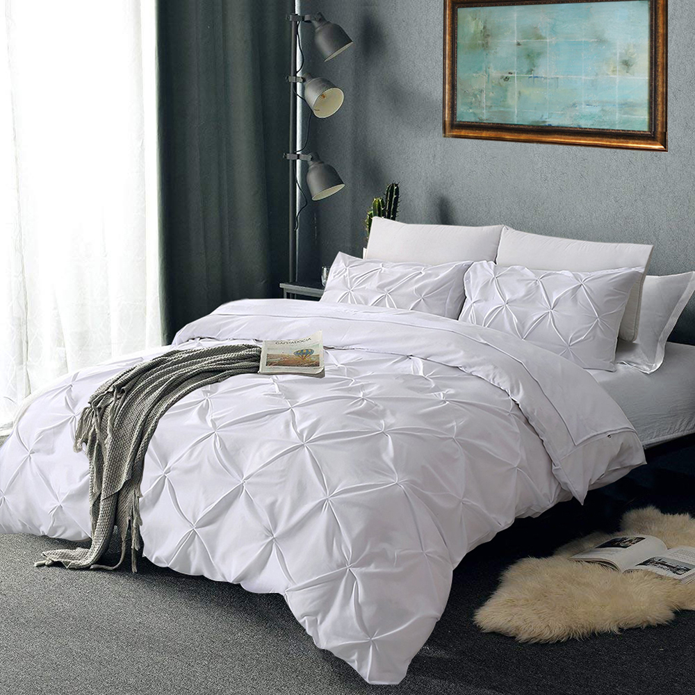 Nordic Solid Color Bedding Set Bedcloths Pillowcases Gray Bed Linens Set Adults Soft Bed Duvet Cover Set US Twin Queen King
