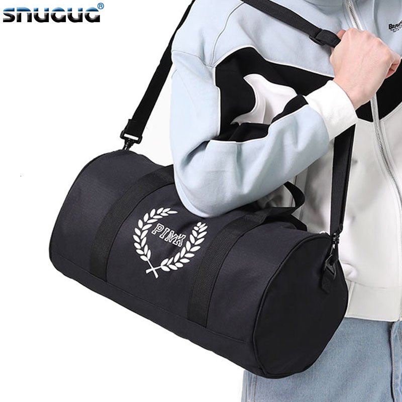 SNUGUG Outdoor Fitness Bag Oxford Pink Gym Bag Men Waterproof Women Male Sports Bags For Shoes New Woman Travel Handbag Tote Bag