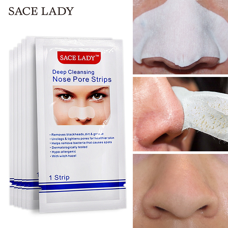 SACE LADY Blackhead Remover Deep Nose Pore Cleasing Strip Nose Sticker Pig Nose Mask Charcoal Pore Strip Deep Clean