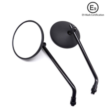 2pcs 10mm Modified Plated Universal Stylish design Motorcycle Rearview Mirror Round Iron Mirror Motorcycle decoration sp motorcycle handlebar modified very cool rearview mirror holder multi functional extension rod