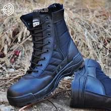 Мужские тактические ботинки коричневые непромокаемые в стиле