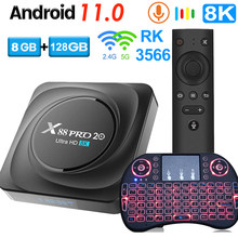 X88 PRO 20 TV Box Android 11 8GB RAM 128GB 4GB 64GB 32GB Rockchip RK3566 Support Google Assistant Youtube X88PRO Media Player