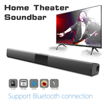 Wireless Bluetooth Speaker 40W Home Theater TV Sound Bar Surround Stereo Subwoofer with Remote Soundbar for TV Computer boombox