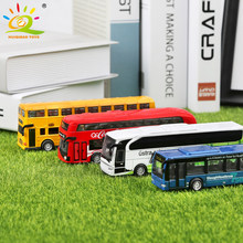 4pcs/set School Bus Coach City Tour Sightseeing Buses Alloy vehicle Diecasts Models Car Toys for Children Garage Kits Collection(China)