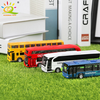 4pcs/set School Bus Coach City Tour Sightseeing Buses Alloy vehicle Diecasts Models Car Toys for Children Garage Kits Collection