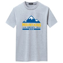 SWENEARO 2021 Summer mountain mou print T-shirt men's casual O-neck short-sleeved brand T-shirt men's breathable T-shirt men