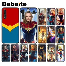 Captain Marvel TPU Soft Phone Accessories Phone Case for Huawei P10 plus 20 pro P20 lite mate9 10 lite honor 10 view10(China)