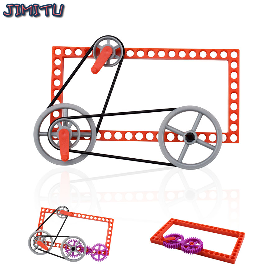 Gear Science Toys Pulley Movement Principle DIY Kit for Children Hands-on Explore Science Experiment Kit Learning STEM Toys