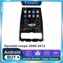 Автомобильное радио стиль tesla android 2din для hyundai coupe