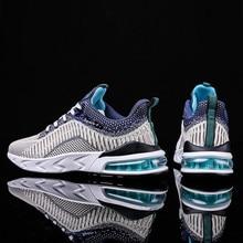 New Air Cushion Running Shoes for Men 2020 Spring Light Sneakers Men knit Mesh B