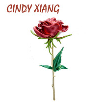 Flower-Brooches Cindy Xiang Rose Women Enamel Luxury Spring Gift Fashion for Lady Summer-Design