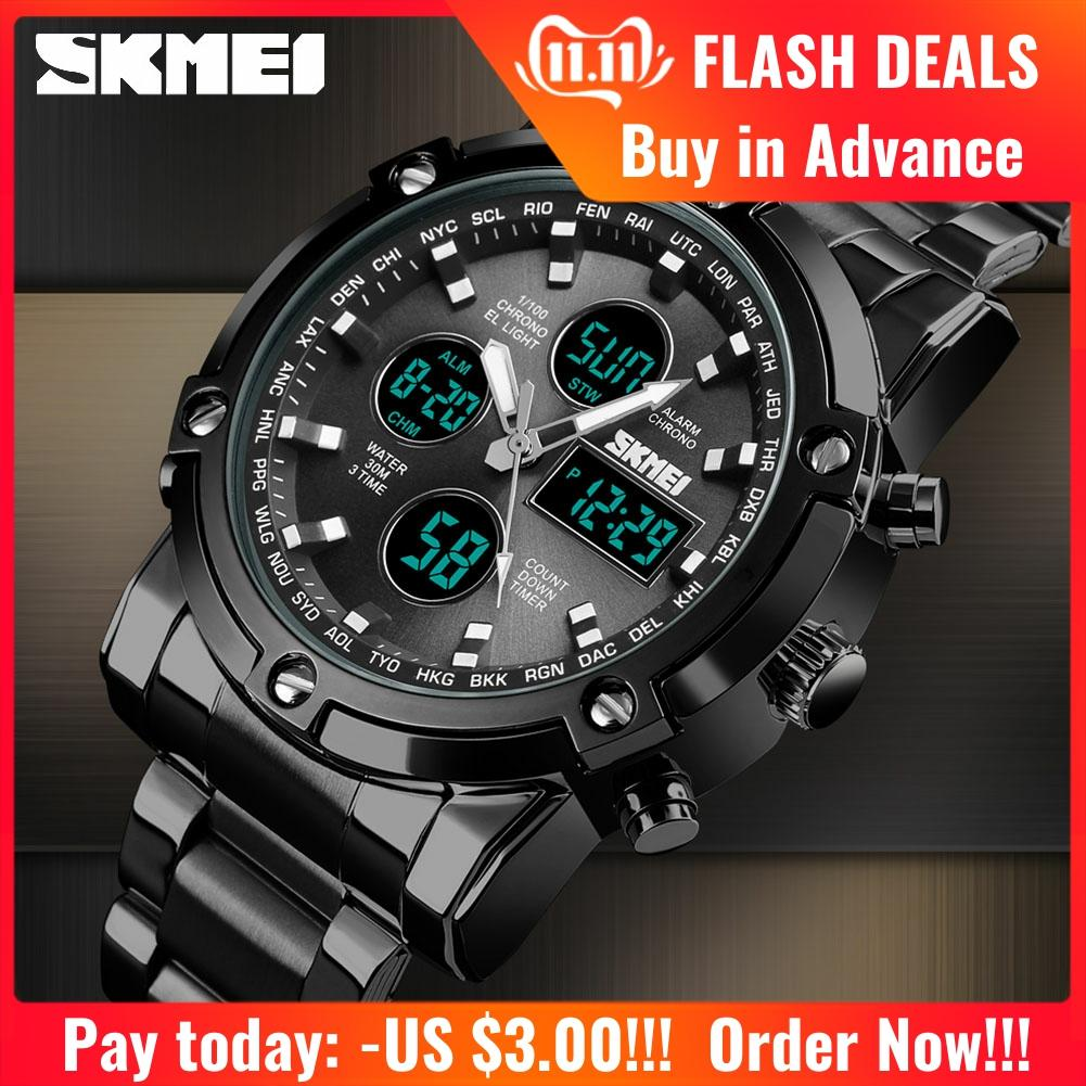 <font><b>SKMEI</b></font> Quartz Analog Mens Watch Luxury Fashion Sport Wristwatch Stainless Watches Waterproof man Clock Relogio Masculino <font><b>1389</b></font> image